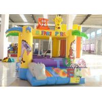 China Indoor Safari Park Funny Inflatable Jumping Bounce House For Kids wholesale