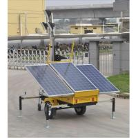 China 4 ×100W Mobile LED Light Tower with Solar , telescoping light tower wholesale