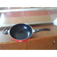 China 30cm Nonstick Induction Bottom Wok Pan With Silicon Side Handle wholesale