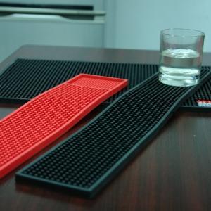China Pratical Eco-friendly Single Color Soft PVC Bar Mat With Printed Logo wholesale