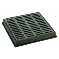 China Dished Square Round Cast Iron Drain Grate Covers Cast Metal Driveway Drainage Grates wholesale