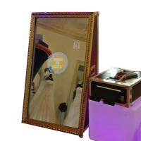 China Interactive Self Service Selfie Mirror Photo Booth Instagram With Camera And Printer wholesale