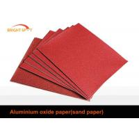 China C Weight Craft Aluminium Oxide Abrasive Paper Red Flexible For Stainless Steel Product wholesale