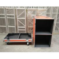 China Orange Speaker Audio Road Aluminum Tool Cases with 9mm Thickness Fireproof Plywood Board wholesale