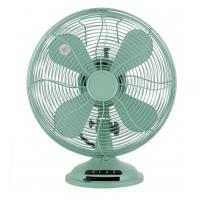 China 35W Green Antique Desk Fans Metal , 3 Speed Vintage Style Table Top Fan on sale