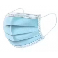 China Blue Green Non Woven Fabric Face Mask , 3 Ply Surgical Face Mask wholesale