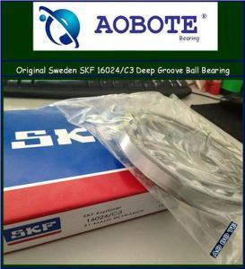 China SKF Deep Groove Ball Bearing Auto / Machine Tool , 16024 C3 wholesale