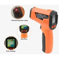 China 2020 The Most Popular High precision digital laser infrared thermometer with LCD for industrial and domestic use wholesale