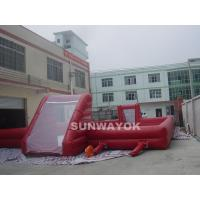 China  0.55 - 0.6mm PVC vinyl airtight Inflatable Water Games Football Field For Funny  for sale
