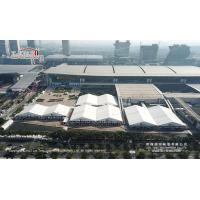 China 30m And 40m Tent With ABS Or Glass Hard Walls Used For Canton Fair And Other Exhibition Rental Business wholesale