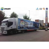 China Mobile Truck 7D Movie Theater Cinema Equipment Special Effect Luxury Motion Chairs on sale