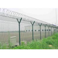 China Y Post 3D Curved Airport Security Fencing , Welded Wire Mesh Fence Panels wholesale