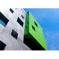 China Lime Green Aluminium Wall Cladding / Customzied Wall Panels For Exterior wholesale