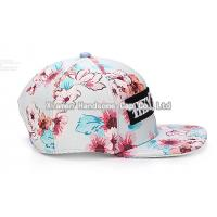 Fashion-Flower-Design-Sport-Truck-Flat-Snapback-Cap