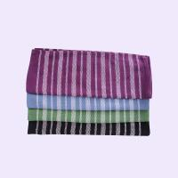 China Stripe Pattern Standard Size Cotton Kitchen Tea Towels / Cleaning Cloth For House wholesale