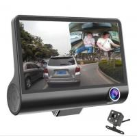 China 4 Inch 3 Lens 1080P Car DVR Camera Video Driving Recorder with Night Vision on sale