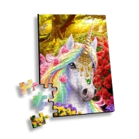 China Custom 100 Piece Plastic Cartoon 3D Lenticular Printing Puzzle or 3D Movie Jigsaw for promotion or souvenir wholesale
