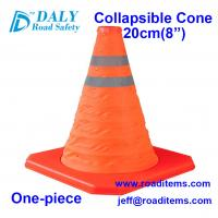 20cm Orange Collapsible Traffic Safety Cones for sale for road,street,hazard,driving,construction and no parking cones