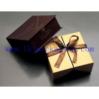China paper box with magnet and ribbon wholesale