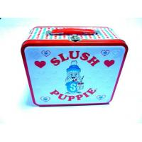 China Cute Cartoon Metal Tin Container Hinge Box For Food / Coffee / Cookie Storage wholesale