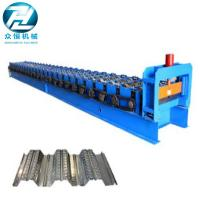 China 0.7-1.5 Thickness Roof Floor Deck Steel Roll Forming Machine For Construction wholesale