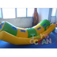 China 0.9mm Yellow PVC Inflatable Water Toys Totter Seesaws Toys For Aqua Play CE wholesale