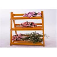 China Wood Decorative Outside Plant Shelves , 3 Tiered Flower Pot Stand Decorative Patio  Furniture wholesale