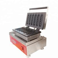 China Commercial Waffle Maker electric snack muffin waffle hot dog baker machine lolly Hot Dog Stuffed Waffle wholesale