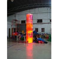 China 5m Customized Color Advertising Helium Balloons Inflatable Pillar With Light For Party wholesale