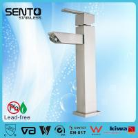 China Hot sales new standerd stainless steel water mixer square basin faucet on sale