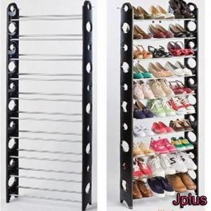 China Iron Tube Black Custom Shoe Storage Racks / Shelves JP-SR210 wholesale