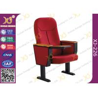 China Wooden Back Cold Rolled Steel Feet Auditorium Theatre Seating Chair wholesale
