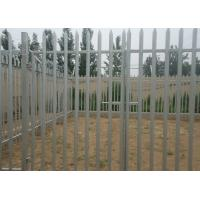 China Hot Dipped Galvanized Metal Palisade Fencing For Garden Decoration , 2.75m Height wholesale
