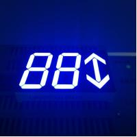 China Ultra Bright Blue 0.80 Inch Arrow Led Display 3 Digit For Set - Top Boxes wholesale