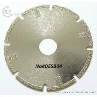 China Electroplated Segmented Saw Blades - DESB04 (Straight protective teeth) wholesale