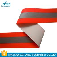 China TID T / C Silver Orange Washable High Visibility Reflective Tape For Uniform wholesale