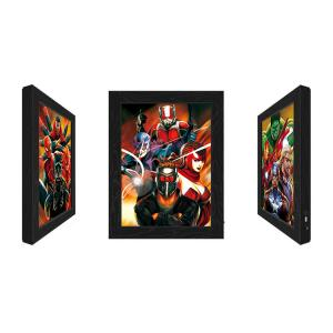 China Outdoor LED 3D Lenticular Pictures With Marvel Movie Character wholesale