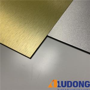 China Sparkling ACP Brushed Aluminum Composite Panel 1000mm Length wholesale