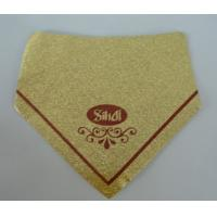 Buy cheap Gold Aluminum Foil Labels Water Resistant Self Adhesive With Logo Printing from wholesalers