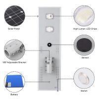 Quality Solar LED Outdoor Street Lights with Battery Backup 50W 5000LM Aluminum Housing for sale