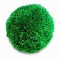 China Pom-pom/Wool Ball, Available in 75 and 100mm Diameters, with 6 Bright Colors wholesale