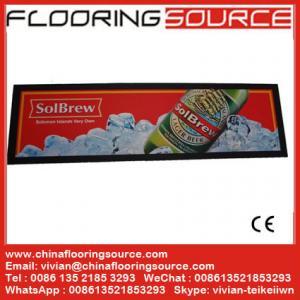 China Nitrile Rubber Backing Bar Mat for Beer and Drink Promotion Logo Custom Rubber Bar Mat, custom pvc bar mat,beer mat wholesale