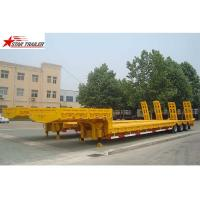 China Heavy Duty Hydraulic Low Bed Semi Trailer Swan Neck Gooseneck Light Yellow on sale