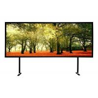 China Black Powder Coated Fixed Frame Projector Screen 10 / 15 Cm Frame Size on sale
