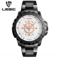 China Wholesale LIEBIG Men Outdoor Waterproof 30m Commander Series Military Sport Steel Band Quartz Wrist Watches S202 wholesale