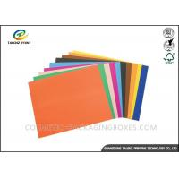 Quality Colored Paper Packaging Materials 100% Wood Pulp Smooth Surface Folding Resistance for sale