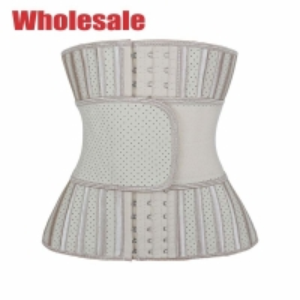 China Nude Single Belt Latex Sport Waist Trainer 25 Steel Boned Corset wholesale
