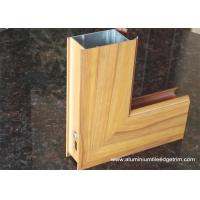 China Aluminium Side - hinged Door Extrusion Profile Wood Grain Effect wholesale