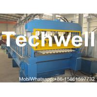 China Aluminium Corrugated Sheet Roll Forming Machine With Plc Frequency Control System on sale