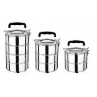 China 2 / 3 / 4 Layer Stackable Stainless Steel Food Container Lunch Boxes wholesale